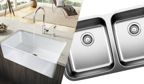 stainless steel u0026 fireclay sinks
